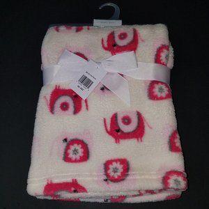 NEW Baby Gear Pink Elephants Fleece Blanket Lovey